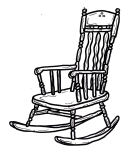 An empty rocking chair