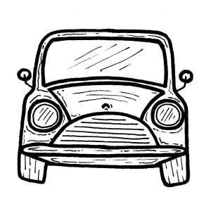 An illustration of a car