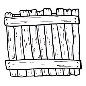 An illustration of a fence